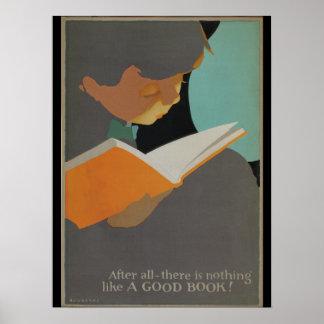 Poster de la semana del libro de 1925 niños póster