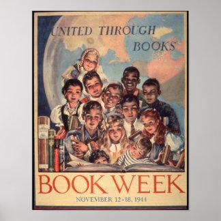 Poster de la semana del libro de 1944 niños póster