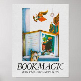 Poster de la semana del libro de 1976 niños póster