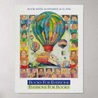 Poster de la semana del libro de 1994 niños póster