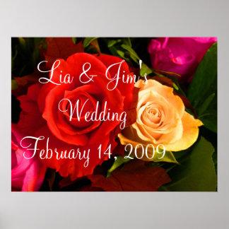 Poster de la tarjeta del día de San Valentín del b