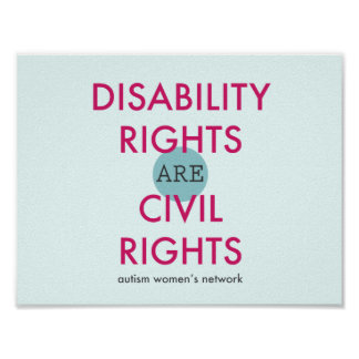 Poster de las derechas de incapacidad póster