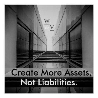 Poster de las finanzas y del éxito