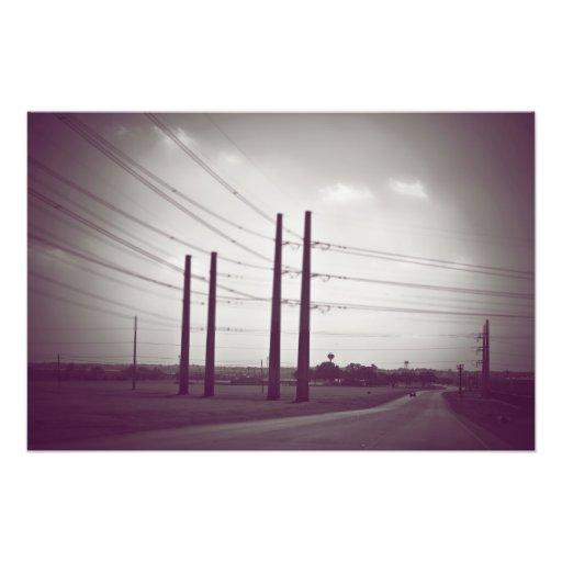Poster de las líneas eléctricas cojinete