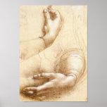 Poster de las manos de da Vinci