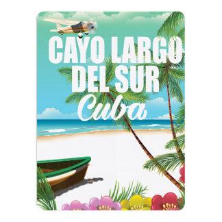 Poster de las vacaciones de la playa de Cayo Largo Invitación 16,5 X 22,2 Cm
