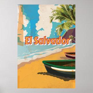 Poster de las vacaciones del vintage de El