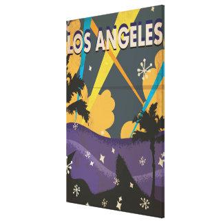 Poster de las vacaciones del vintage de Los Lona Envuelta Para Galerías