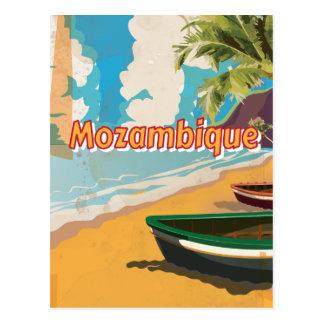 Poster de las vacaciones del vintage de Mozambique Postal