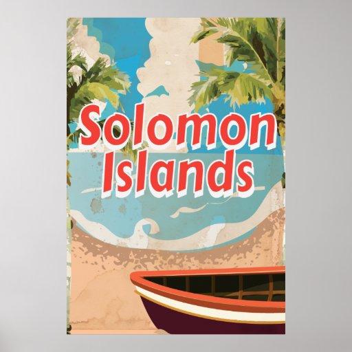 Poster de las vacaciones del vintage de Solomon