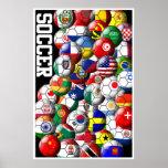 Poster de los balones de fútbol del mundo