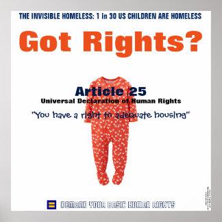 Poster de los derechos humanos: La derecha del