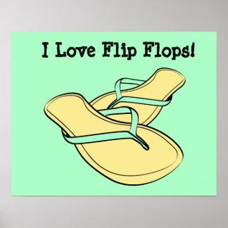 Poster de los flips-flopes del arte pop de la