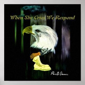 Poster de los gritos de American Eagle