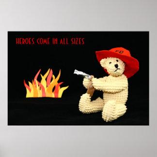 Poster de los héroes del oso del bombero póster