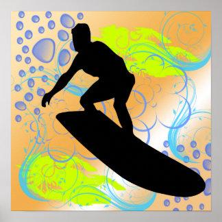 Poster de los sueños que practica surf