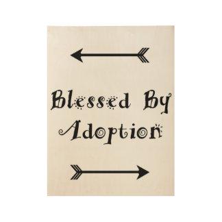 Póster De Madera Bendecido por la adopción - acogida