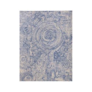 Póster De Madera Círculos azules y blancos