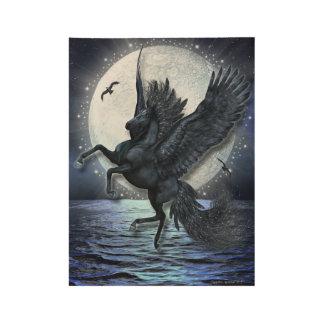 Póster De Madera Claro de luna estrellado