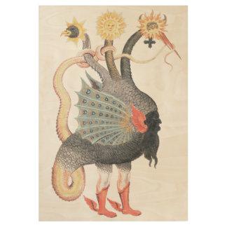 Póster De Madera Color del dragón de la alquimia
