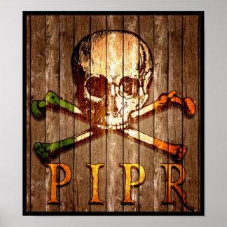 Poster de madera de la impresión de PIPR