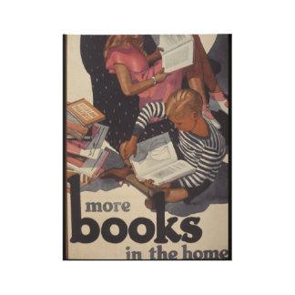 Poster de madera de la semana del libro de 1929