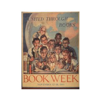 Poster de madera de la semana del libro de 1944