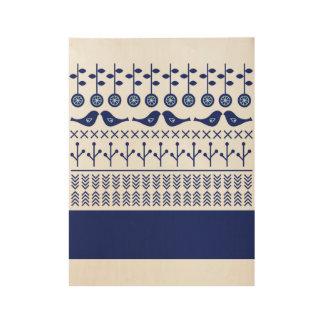 Poster de madera del nuevo vintage: con diseño de