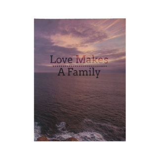 Póster De Madera El amor hace una adopción de la familia - acogida
