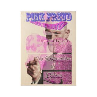 Póster De Madera Freud rosado con el cigarro