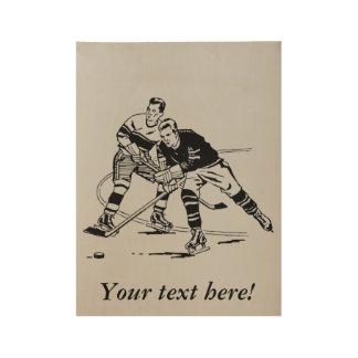 Póster De Madera Hockey sobre hielo
