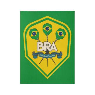 Póster De Madera Juegos tradicionales del Pub del Brasil