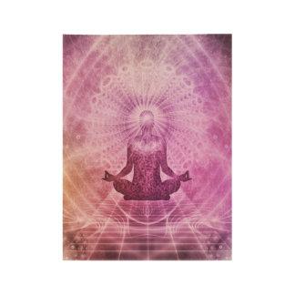 Póster De Madera Mediación de la yoga