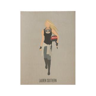 Poster de madera meridional de Lauren - Minimalist