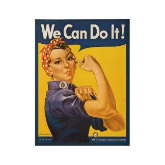 Póster De Madera ¡Podemos hacerlo! Rosie el vintage WWII del