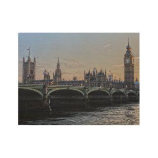 Póster De Madera Puente de la torre, Londres