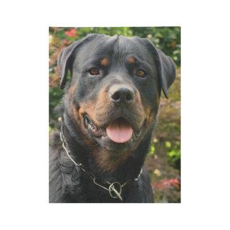 Póster De Madera Retrato de Rottweiler