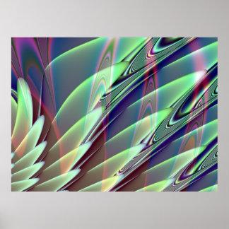 Poster de menta del fractal del placer