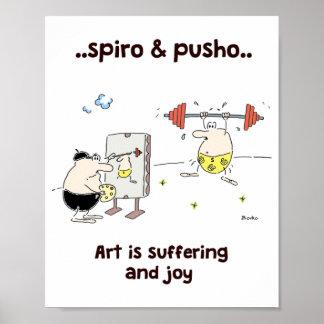 Poster de motivación 8x10 de las citas del arte de