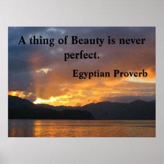 Poster de motivación con proverbio egipcio póster