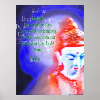 Poster de motivación de la cita de Buda