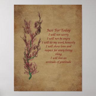 Poster de motivación de la cita de la gratitud de