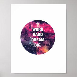Poster de motivación de la cita póster