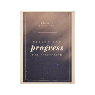 Poster de motivación de la cita póster de madera