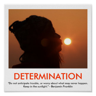 Poster de motivación de la DETERMINACIÓN