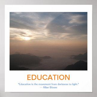 Poster de motivación de la EDUCACIÓN