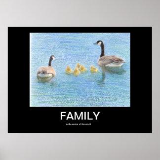Poster de motivación de la familia póster
