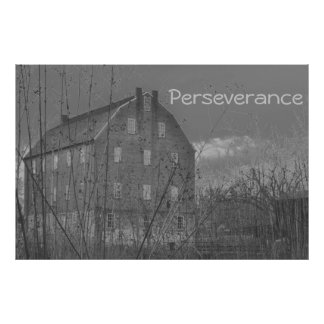 Poster de motivación de la perseverencia