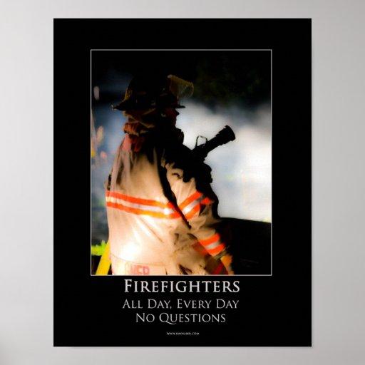 Poster de motivación de los bomberos póster