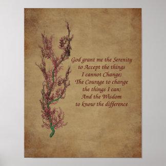 Poster de motivación del rezo de la serenidad de l